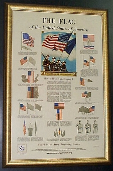 1942 Repro of US Army The Flag poster