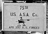 St George, 75th ASA company sign